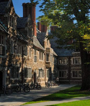 Princeton University. Campbell Hall at Rockefeller College.  Connor lived in the far room near the corner his freshman year!