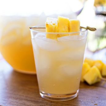 Make sweet Pineapple Rum Punch with this recipe.