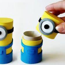 Minions Can Make From Toilet Paper Rolls - Cosas-creativas-para-hacer-en-casa