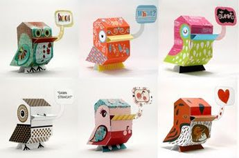 NaniBird paper toys | How About Orange