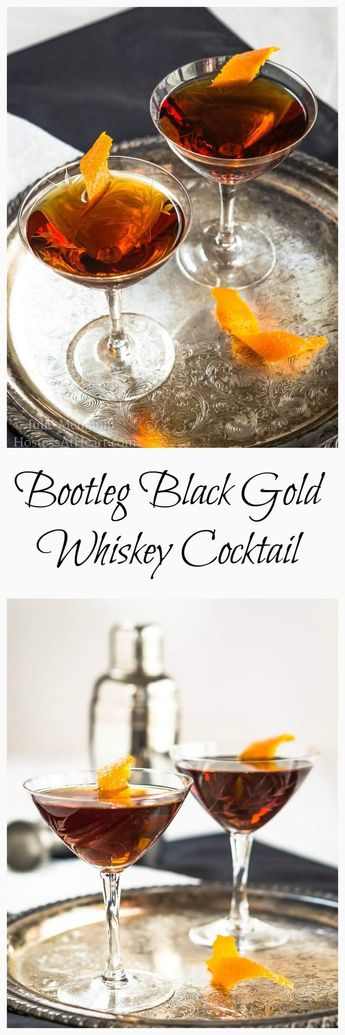 Bootleg Black Gold Whiskey Cocktail