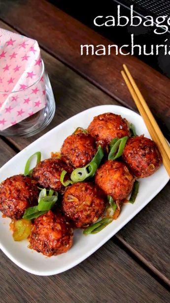 Cabbage manchurian recipe | dry cabbage veg manchurian