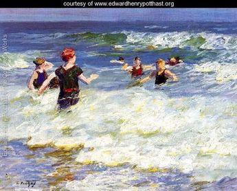 In the Surf I - Edward Henry Potthast - www.edwardhenrypotthast.org