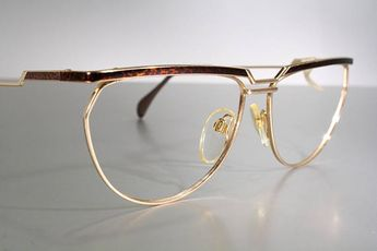 e00ac32afdb0 Rare SILHOUETTE M6108 V6055 Bold Gorgeous Gold with Brown Leopard Pattern Eyeglasses  Glasses Frames With Tags