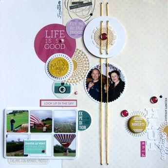 Pour Kési'art  : Spéciale coupe du monde (ronds, cercles et pois...) Page avec un rond qui se déplace.