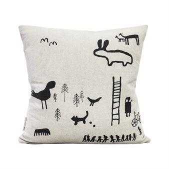Imprint cushion cover-black