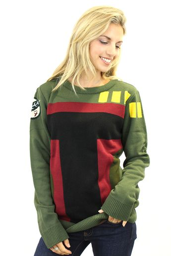 Be the best bounty hunter in a knitted jumper with this Official Star Wars Knitted Boba Fett jumper! This jumper design features the iconic helmet of one of the most popular villains in the Galactic Empire's ranks. It's cool enough to get you into most parties, but it won't save you from a giant man-eating plant though.