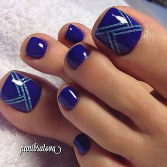 Toe Nail Art Different Color