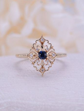 Engagement Ring Halo Rose Gold With Lab Grown Diamond Or M