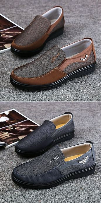 Men Large Size Old Beijing Style Casual Cloth Shoes