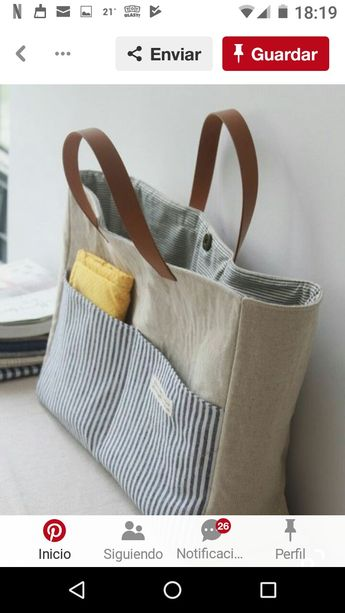 4eba3590a 1940's era Ticking Fabric Tote Bag