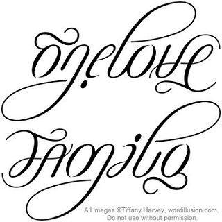 One Love Family Ambigram V2