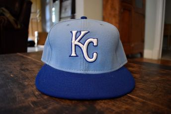 7ac810d8236 ... promo code new era kansas city royals game 59fifty fitted hat royal  blue 7 1 aaf67