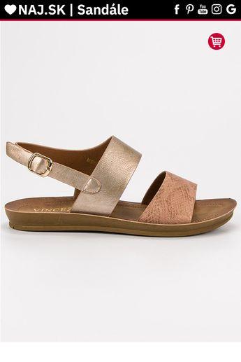 ff238c53f1864 Pohodlné zlaté sandále VINCEZA