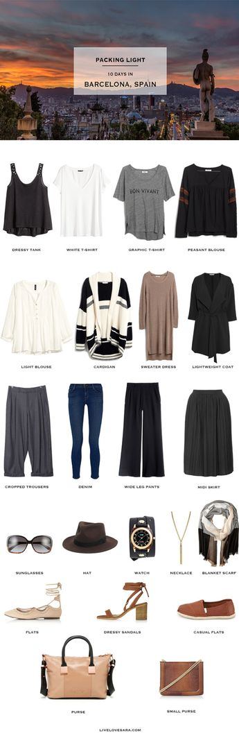 What to Pack for Barcelona, Spain - Packing Light