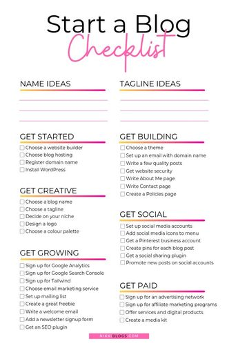 Get the how to start a blog checklist for beginners and learn to make money blogging! Download this printable checklist for free and explore tips and ideas for how to create a blog with WordPress - in the US, in Canada, in Australia, or anywhere in the world! Start a blog for profit or for fun and find inspiration to get to writing topics ranging from lifestyle to mom life. Start blogging as a hobby in college or as a career and learn exactly what to do before you launch your new site!