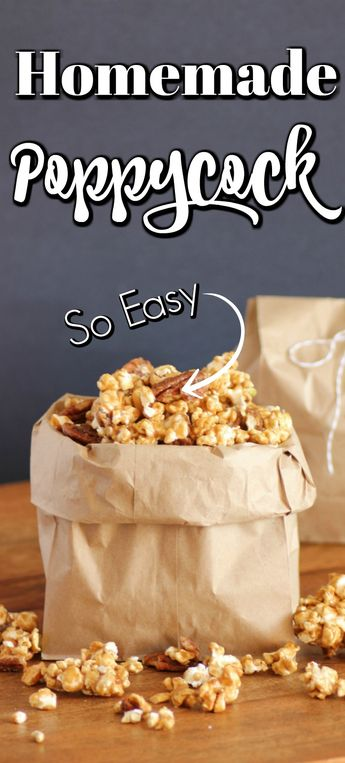 Homemade Poppycock is easy to make and a delicious treat for the holidays that the whole family will love!! #poppycock #caramelcorn