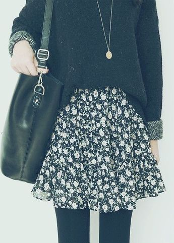 41 spring outfits with floral skirts
