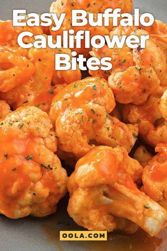 Easy Buffalo Cauliflower Bites