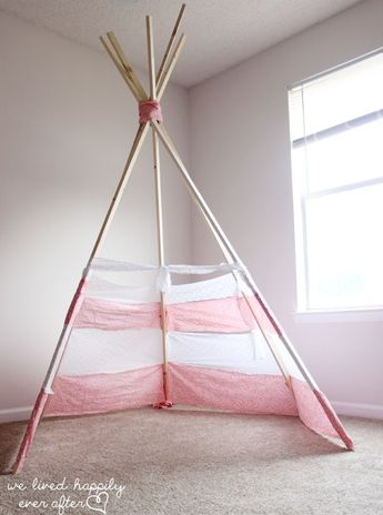 DIY No Sew Teepee for under $30