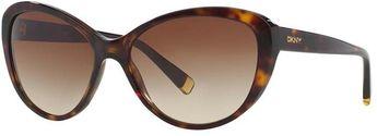 2532915915 DKNY Essentials DY4084 57mm Cat-Eye Gradient Sunglasses