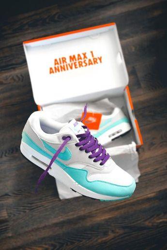 new style cf5b1 f65df Air Max 1 Anniversary Aqua Purple by blog.sneakerando.com sneakers  sneakernews StreetStyle