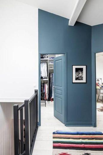 Palier 1er etage: couloir et hall d'entrée de style par olivier stadler architecte