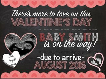 Valentine S Pregnancy Announcement Valentine S Day Pregnan