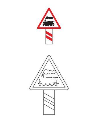 Trafik Işaretleri Boyama Sayfaları