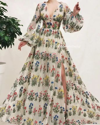 Wildflowers Queen Gown