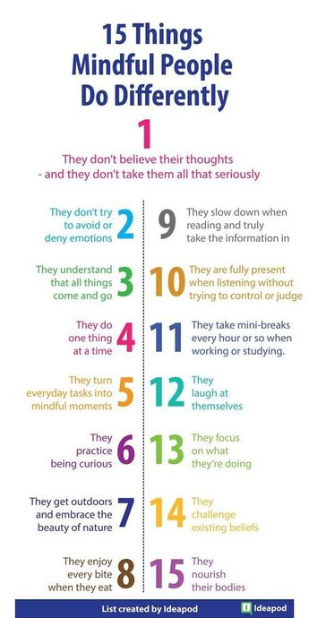 15 Things Mindful People Do Differently