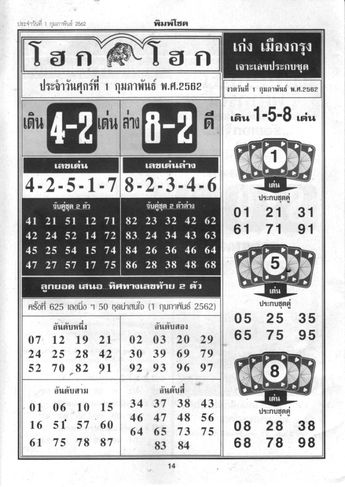 Today the Thai Lottery Guru provide you Thai Lottery First