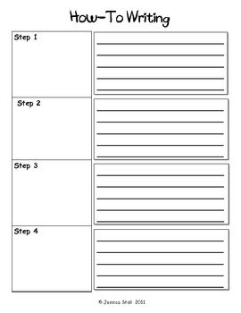 How To and Story Writing Graphic Organizers