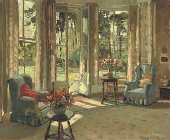 A sunlit interior, Herbert Davis Richter painting. Description from pinterest.com. I searched for this on bing.com/images