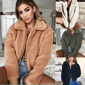 Fleece Fur Coat
