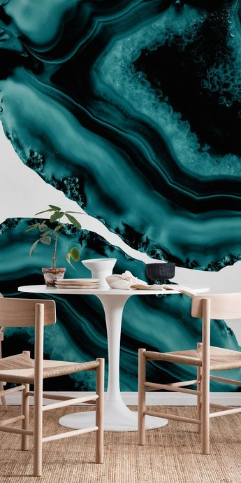 Dark Turquoise Agate 1 Wall mural