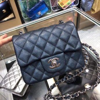 4c2346e5f50a75 Chanel Bags on Sale: Chanel Mini Square Classic Flap Bag 100% Authentic 80%