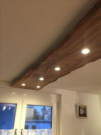 Rustic wooden plank downlights
