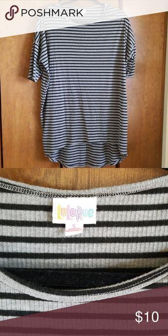 Lularoe Irma Black and grey stripped Irma size Small LuLaRoe Tops Tees - Short Sleeve