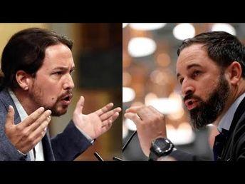 Pablo Iglesias dirige DURAS palabras contra Santiago Abascal  Pleno Inve...