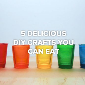 5 Delicious DIY Crafts You Can Eat #DIY #desserts #edible #cups