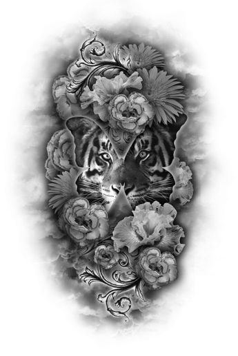 f6bdea66b Recently shared tige tattoo thigh girly ideas & tige tattoo thigh ...