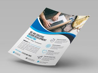 Elegant Corporate Flyer with Beautiful Style 000647 - Template Catalog