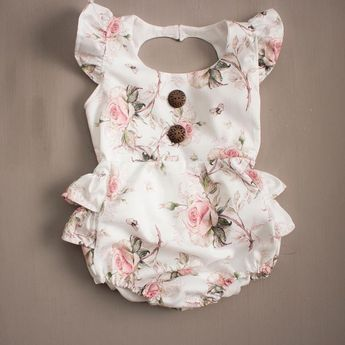 Have you seen our new Vintage Rose Ruffle Bum Romper?!