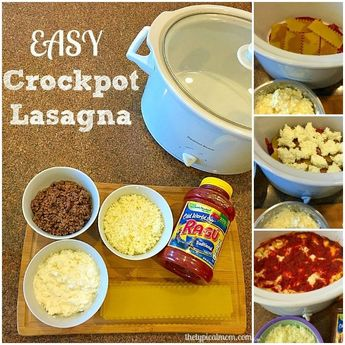 Easy crockpot lasagna recipe with no boiling required. Great meal your whole family will love with a few ingredients and cooks quickly in your slow cooker.