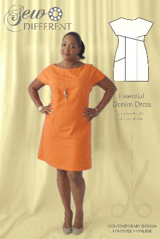The Essential Denim Dress sewing pattern - Summer style