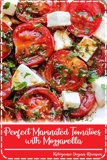 Marinated Tomatoes – Full of summer flavors these healthy tomatoes are soaked up with olive oil, balsamic vinegar and fresh herbs. A perfect hors d'oeuvre that everyone will love! Ingredients list …