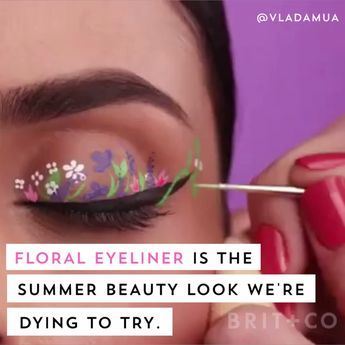 Floral Eyeliner Is Set to Dethrone the Floral Crown As the Next Big Festival Look