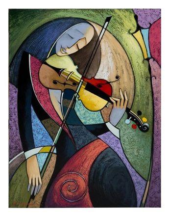 La violoniste by Vyacheslav Koretsky