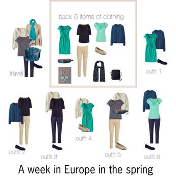 A week in Europe in the spring by lillyicity on Polyvore featuring Uniqlo, Boden, L.K.Bennett, Vero Moda, Rabens Saloner, Joules, Gabor, Old Navy, ASOS and O.S.P Osprey #p&ocruisetips